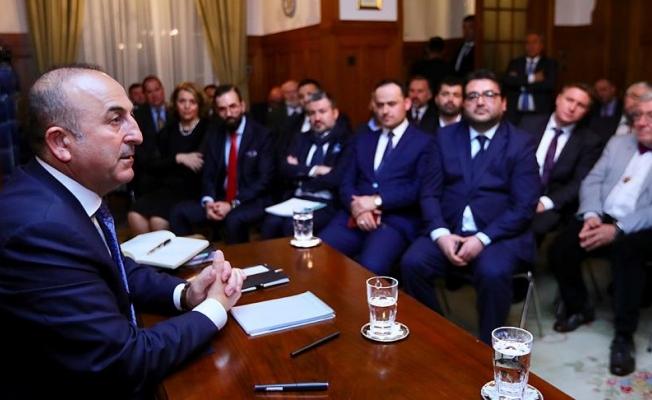 Çavuşoğlu İsviçre'de STK temsilcileriyle buluştu