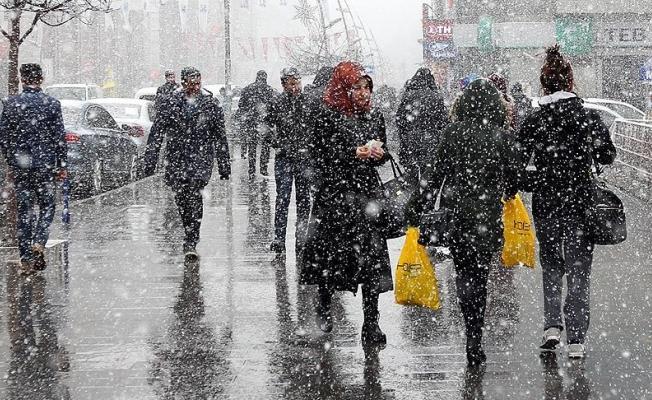 Pazar günü yağmur ve kar yağışı bekleniyor