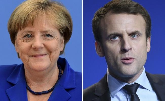 Merkel ile Macron görüştü