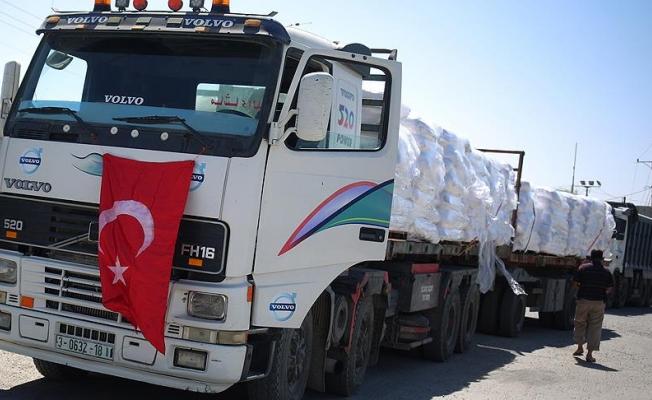Türkiye'den Gazze'ye bayramda 10 bin tonluk insani yardım
