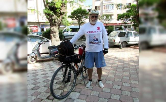 Kanserden kaybettiği oğlu için bisikletle Türkiye'yi dolaşıyor
