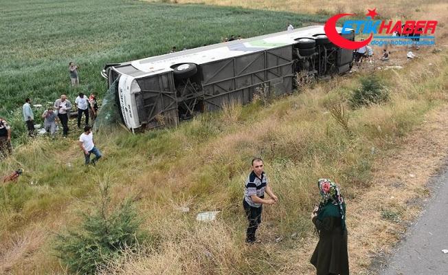 Amasya'da yolcu otobüsü devrildi: 6 ölü