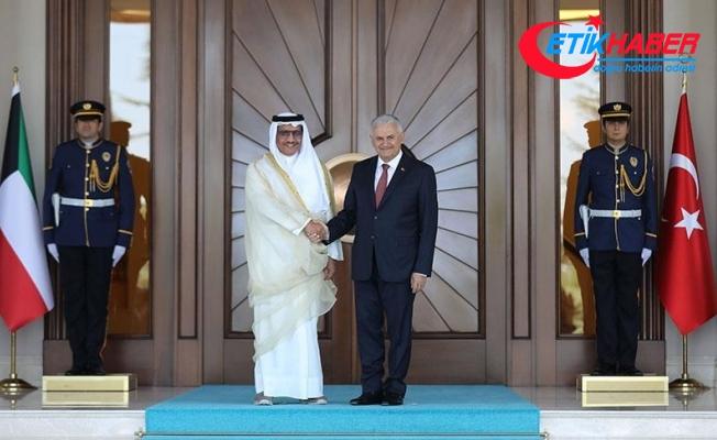 Başbakan Yıldırım, Kuveyt Başbakanını resmi törenle karşıladı