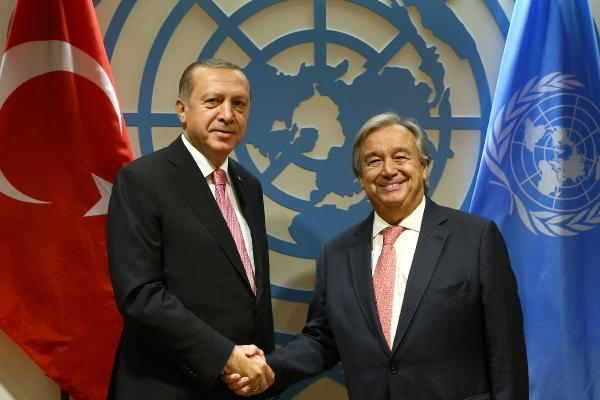 Cumhurbaşkanı Erdoğan BM Genel Sekreteri António Guterres ile görüştü
