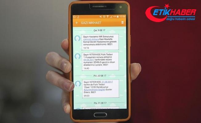 Devlet hastanelerinde SMS dönemi başladı