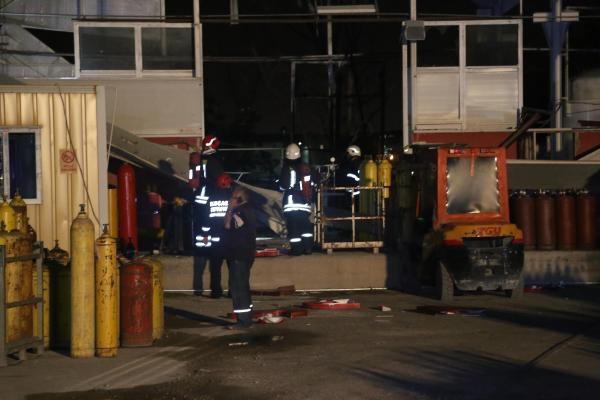 Gaz dolum tesisinde patlama: 1 yaralı