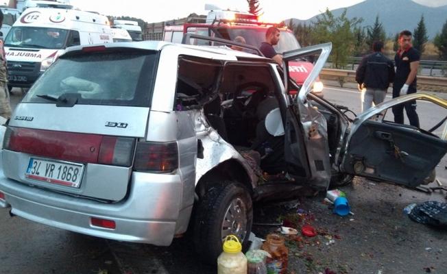 Osmaniye'de zincirleme trafik kazası: 1 ölü 4 yaralı