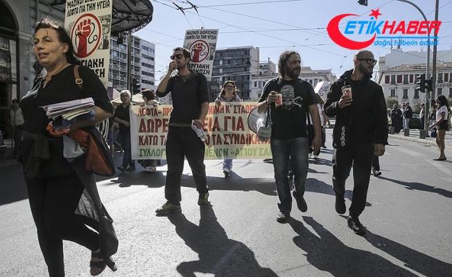 Yunanistan'da sağlık çalışanları 24 saatlik grevde