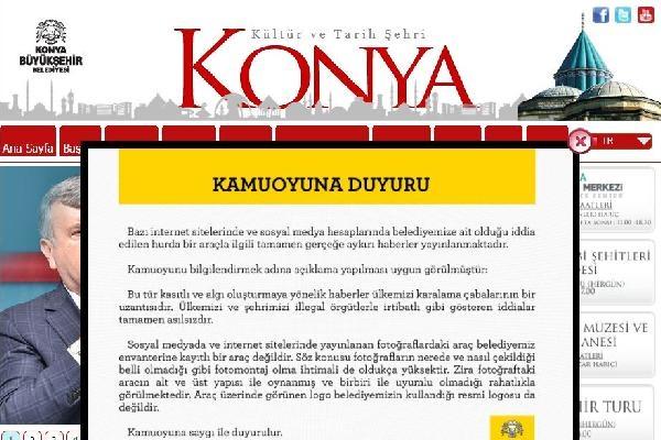 Konya Büyükşehir Belediyesi'nden Rakka'da görüntülendiği iddia edilen kamyonla ilgili açıklama