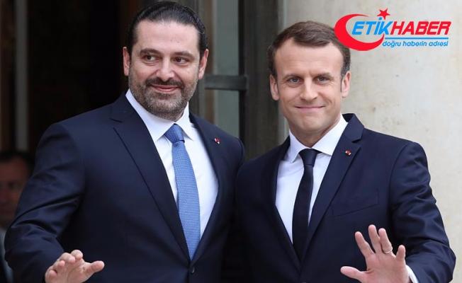 Macron, Paris'te Hariri ile görüştü