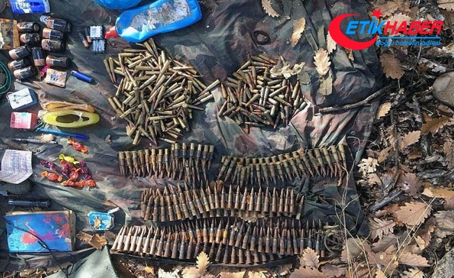 Tunceli'de operasyonda teröristlere ait silah ve mühimmat ele geçirildi