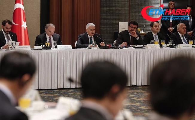 Başbakan Yıldırım Güney Kore'de iş dünyası temsilcileriyle buluştu