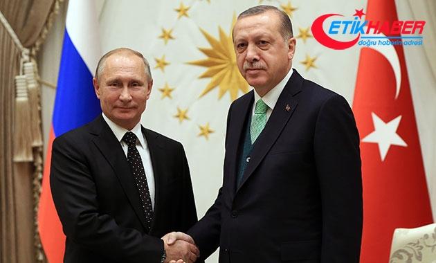Cumhurbaşkanı Erdoğan, Putin ile Suriye'yi görüştü