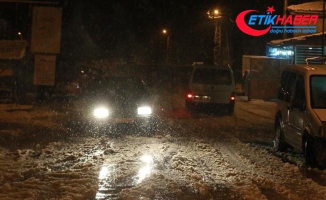 Kırklareli'nin yüksek kesimlerinde yoğun kar yağışı