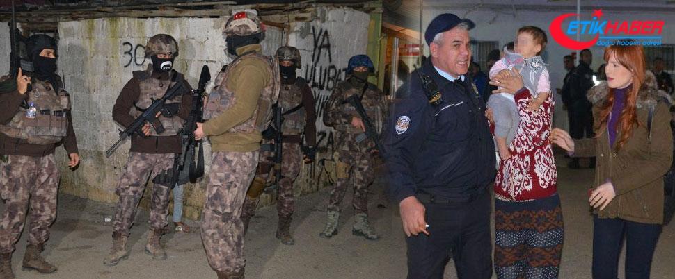 Adana'da bin polisle hava destekli operasyon: 50 gözaltı