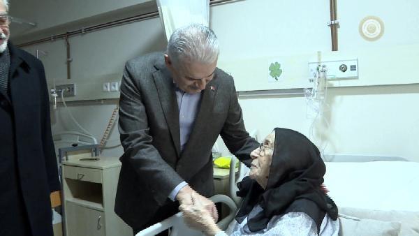 Başbakan Yıldırım'dan hastane ziyareti
