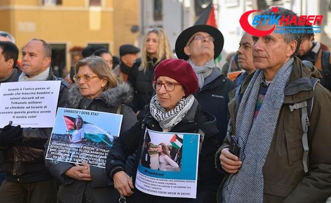 Roma'da 'Ahed Tamimi'ye Özgürlük' eylemi