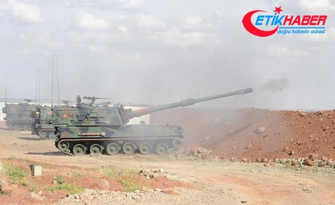 Afrin'in batısındaki terör mevzileri, topçu birliklerince vuruldu