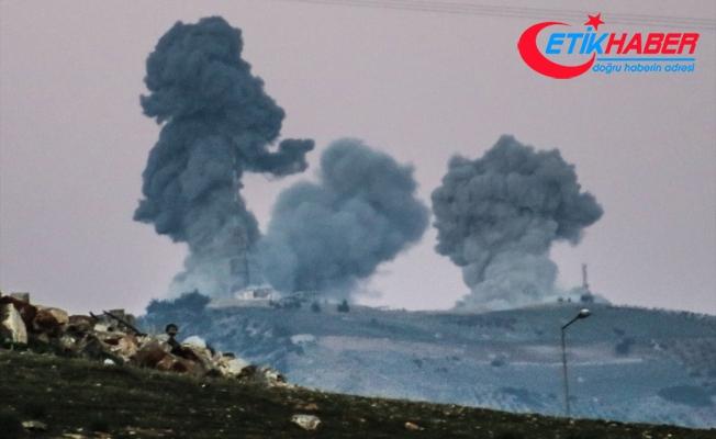 Suriye'nin Afrin bölgesinde devam eden harekat kapsamında hedefler, TSK tarafından vuruluyor