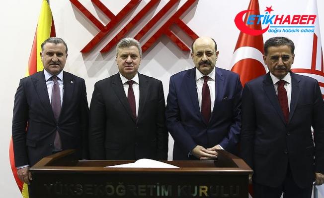 Makedonya Cumhurbaşkanı Ivanov YÖK Başkanı Saraç'la görüştü