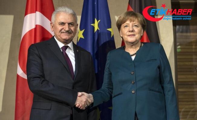 Yıldırım-Merkel görüşmesi başladı