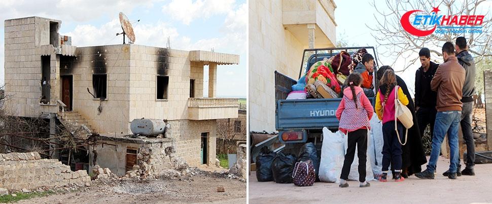 Teröristlerden temizlenen köylerine geri döndüler