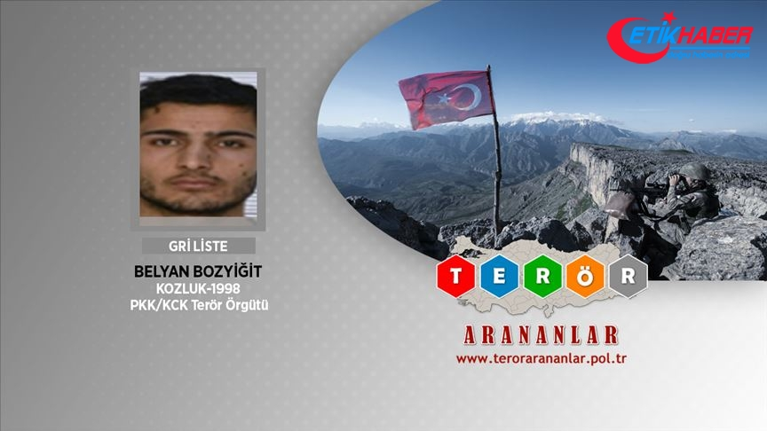İçişleri: Gri Liste'de aranan terörist Belyan Bozyiğit etkisiz hale getirildi