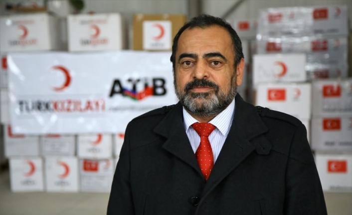Türk Kızılay ve Azerbaycan Türkiye İşadamları Birliğinden Azerbaycan'a 7 tır insani yardım