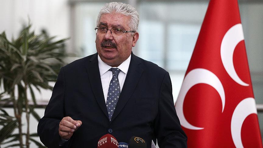 MHP'li Yalçın: CHP, FETÖ'nün kullanacağı ortamın yaratılmasına çanak tutmaktadır