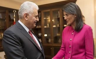 Başbakan Yıldırım ABD'nin BM Daimi Temsilcisi Haley'i kabul etti