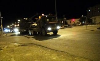 Kilis'te, Suriye sınırına obüs sevkiyatı