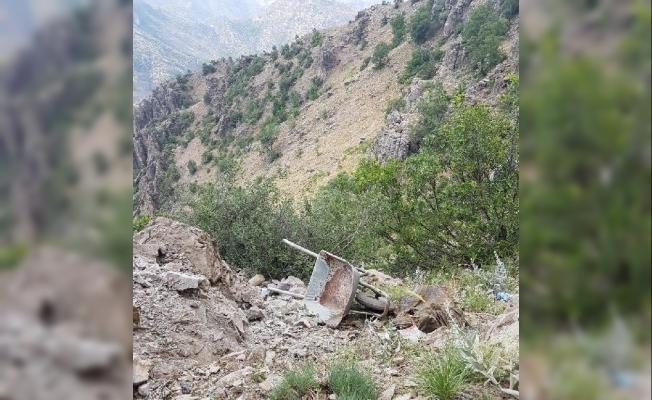 PKK'ya ait 4 odalı mağara bulundu
