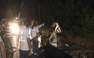 Beykoz'da feci kaza: 2 ölü, 1 ağır yaralı