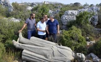 Çalılıkta bulunan Atatürk heykeliyle ilgili 3 gözaltı