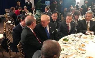 Erdoğan ve Trump bir araya geldi