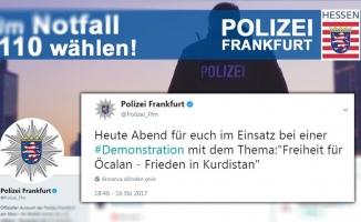 Frankfurt Başkonsolosluğundan polise 'PKK' tepkisi