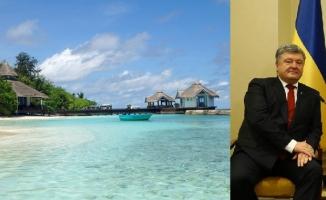 """Ukrayna Devlet Başkanı Poroşenko'nun Maldivler tatili gündemde: """"500 bin dolar harcadı"""" iddiası"""