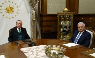 Cumhurbaşkanı Erdoğan, Binali Yıldırım, Fidan ve Akar'ı ayrı ayrı kabul etti