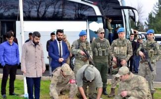 JÖH timleri ve korucular, Diyarbakır'dan Afrin'e böyle uğurlandı