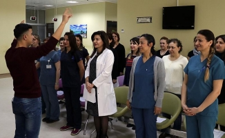 Onkoloji servisi korosu konsere hazırlanıyor