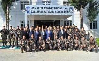 Osmaniye'den özel harekat polisleri Afrin'e uğurlandı