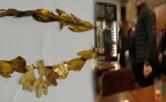 Tam 2 bin 200 yıllık altın taç! Suçüstü yakalandılar.