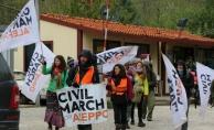 """""""Halep İçin Sivil Yürüyüş"""" hareketi Makedonya'da"""