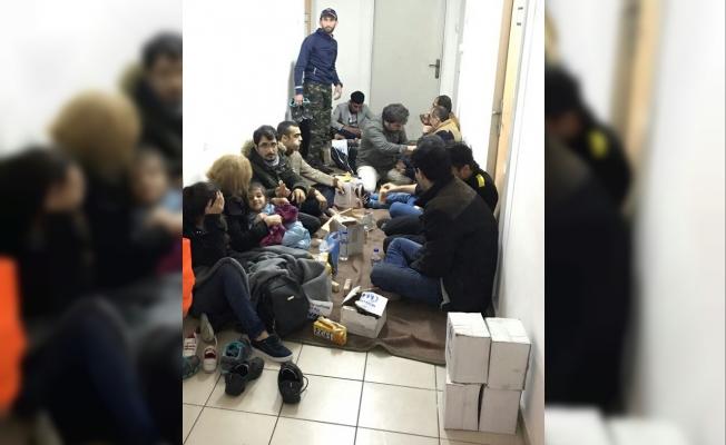 Enez açıklarında 18 yabancı uyruklu yakalandı