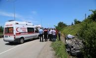 Ordu'da otomobil su kanalına devrildi: 6 yaralı