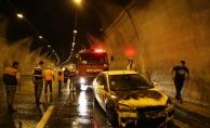Bolu Dağı Tüneli'nde araç yangını