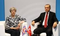 Erdoğan İngiltere Başbakanı May ile bir araya geldi
