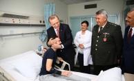 Erdoğan'dan gazilere moral ziyareti