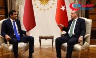 Cumhurbaşkanı Erdoğan, Katar Emiri Al Sani ile bir araya geldi