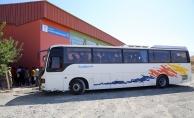 Erzincan'da 45 yolcu kapasiteli otobüste 123 kaçak yakalandı